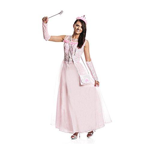 Kostümplanet® Prinzessin-Kostüm Damen + Tasche rosa Prinzessinen-Kostüm Erwachsene Größe 40/42