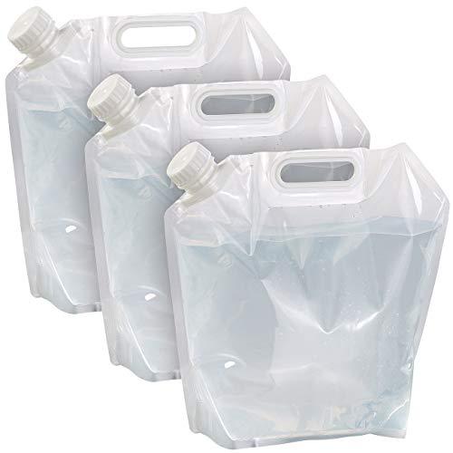 Semptec Urban Survival Technology Falt-Wasserkanister: 3er-Set flach Faltbare Wasserkanister mit Tragegriff, 5 l, BPA-frei (Frischwasserbehälter)