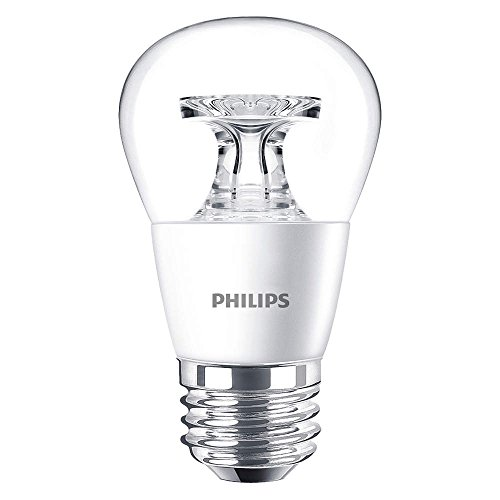 Philips LED Dimmable A15 Soft White Light Bulb with Warm Glow Effect 450-Lumen, 2700-2200-Kelvin, 5.5-Watt (40-Watt Equivalent), E26 Base, Clear, 10-Pack