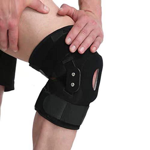 Ortesis de rodilla con bisagras ajustables de aluminio, soporte para ligamento, lesiones deportivas, férula ortopédica, rodilleras, férula de rodilla para exteriores, soporte para aliviar el d