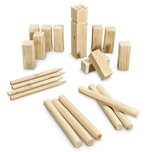Viking Chess - Wooden - XXL - for up to 12 Players - 22 Pieces Outdoor Kubb Game - for Players Aged 6 and Over
