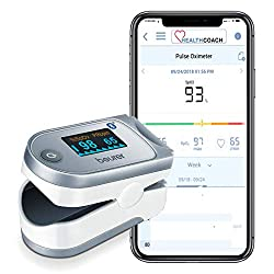professional Beurer PO60 Digital Pulse Oxygen Meter Bluetooth   Blood Oxygen Saturation and Heart Rate Monitor…