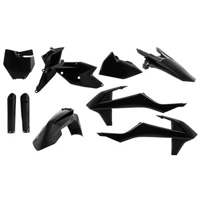 Acerbis Replica Plastic Kit Black for KTM 65 SX 2016-2018