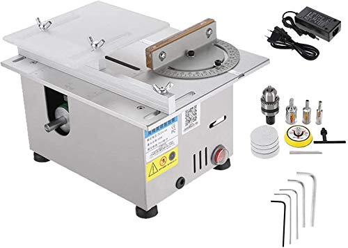 96W Mini Precision Table Saws, Multifunctional Wood Working Bench 7000 / min Lathe Electric Polisher...