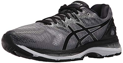 ASICS Men's Gel-Nimbus 20 Running Shoe, Carbon/Black/Silver, 9 Medium US