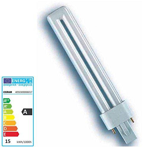 10x Osram DULUX S Kompaktleuchtstofflampe G23 - (11W/827 G23-237mm - Interna)