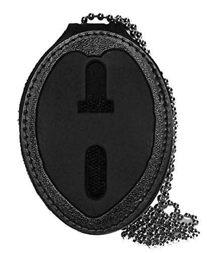 Miami Metro PD Belt Clip Badge Holder with Chain (Cutout PF400)