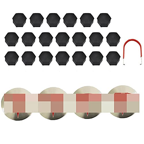 Logotipo de la tapa del cubo del centro de la rued Cordilleras decorativas compatibles con TESLA MODELO 3 / S / X / Rueda Tornillo de tornillo Kit de logotipo Neumáticos decorativos Cap Tesla Insignia