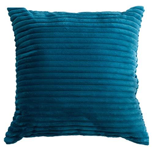 YONGYONG Flanelle Oreiller Quatre Saisons Canapé-lit Coussin De Couleur Unie Bureau Oreiller Adulte Dossier (Color : Blue)