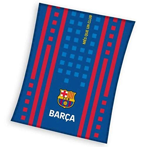 FCB FC Barcelona Fleecedecke - Fleece Blanket - couverture en Laine Polaire -coperta in Pile - Manta de Lana 110x140cm JT192032