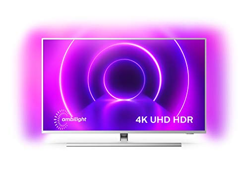 Philips Ambilight 43PUS8505/12 43-Zoll LED TV (4K UHD, P5 Perfect Picture Engine, Dolby Vision, Dolby Atmos, HDR 10+, Sprachassistent, Android TV) Hellsilber [Modelljahr 2020]