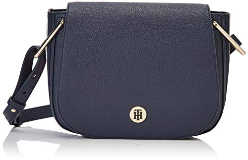 Tommy Hilfiger Damen Th Core Saddle Bag Corp Umhängetasche, Weiß (Corporate), 19x24x5cm