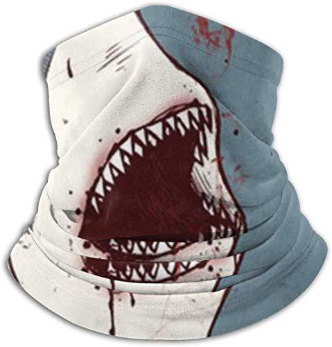 Belongtu Nackenwärmer Schal Halstuch Shark Wearing Plaid Shirt Neck Warmer Neck Gaiter Tube,Ear Warmer Headband & Face Cover