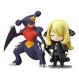 Figura Acción Anime Pokemon, Figura Acción Anime Cynthia Garchomp Nendoroid Figuras Juguetes Anime, Figura Pokemon PVC Statuen Adornos Colección Decoración Modelo Juguete Regalo Cumpleaños 3.9In