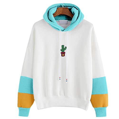 TUDUZ Damen Hoodies Langarm Schulterfrei Kapuzenpulli Sweatshirt Pullover Tops Bluse Kapuzen Sweatshirt Kapuzenpullover