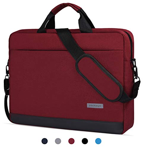 14-15 Inch Laptop Sleeve Case Messenger Bag Waterproof Shockproof Shoulder Bag Compatible with Acer Chromebook 14,LG Gram 14', HP Stream 14, 14' Samsung Dell Toshiba HP ASUS Acer Notebook Bag,Red Wine