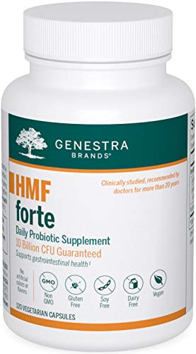 Genestra Brands - HMF Forte Probiotic Supplement - Four Strains of Probiotics to Promote GI Health - 120 Capsules
