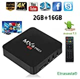 Rampotox MXQ Pro 4K Android TV Box with 2GB RAM/16GB ROM 64Bit Quad