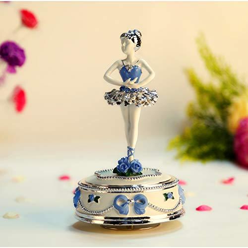 NON ROCK Caja de música con diseño de Ballet para niña Que no se balancea y se Puede Girar, con música de Lago de Cisne, Regalo para niñas.