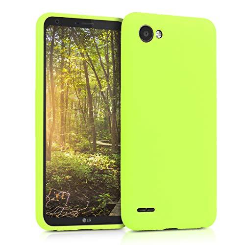 kwmobile LG Q6 / Q6+ Hülle - Handyhülle für LG Q6 / Q6+ - Handy Case in Neon Gelb
