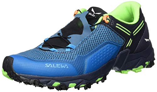 Salewa MS Ultra Train 2, Zapatillas para carrera de senderos Hombre, Azul (Danube/Carrot), 43 EU