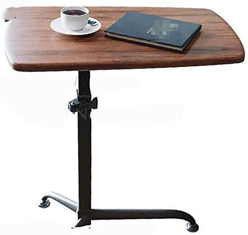 Mesa portátil para sobrecama, mesa de podio, mesa móvil, mesa para profesores, escritorio de entrenamiento, escritorio de pie, simple escritorio de pie, mesa de sobrecama portátil, color marrón oscuro