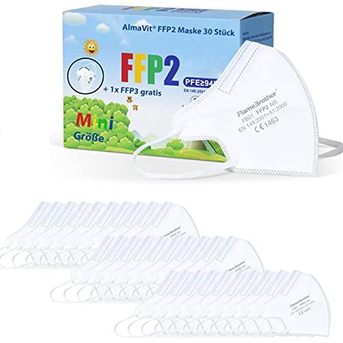 CESA kleine FFP2 Maske mini Mundschutz Atemschutzmaske Mund und Nasenschutz - 20 Stück