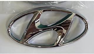 Hyundai Motors Genuine 863533X000 Front Hood Grill H Logo Emblem 1-pc For 2011 2012 2013 Hyundai Elantra : Avante MD