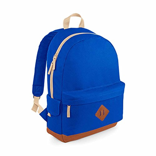 BagBase Heritage Backpack, Bright Royal, 45 x 31 x 19 cm