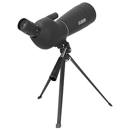AOMEKIE Spotting Scope 20-60 X 60mm Zoom Spotter Scope Waterproof with Tripod Phone Adapter Bak4 Prism and Carrying Bag for Target Shooting Hunting Bird Watching 45-Degree Angled