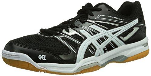ASICS Gel-Rocket 7, Zapatillas de Voleibol Hombre, Blanco (Black/White/Silver 9001), 46.5