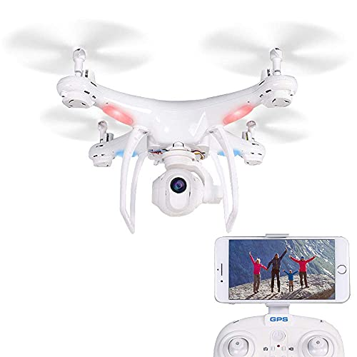 JJDSN Drone and Camera 1080P 5G, GPS FPV WiFi RC Precision Return Lens Adjustment Four-Axis Drone, Intelligent Follow Suit for Adults