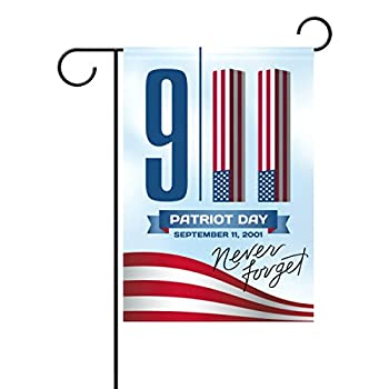 ALAZA U Life Retro Patriotic American 911 Decorative Garden Yard Flag Banner for National Patriot Memorial Rememberance Day Outside House Flower Pot Double Side Print 40 x 28 & 12 x 18 Inch