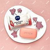 NIVEA Strawberry & Milk Pflegeseife (1 x 90 g), cremige Seife mit verwöhnendem Erdbeerduft, Handseife als Schutz und für hygienisch saubere Hände - 4