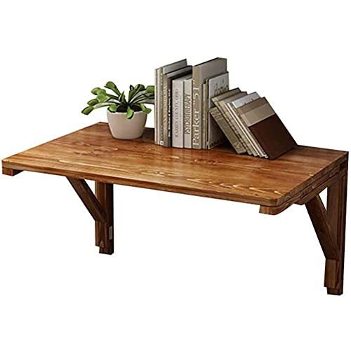 FGDSA Industrieller rustikaler Wandtisch Esstisch platzsparende Holztische an der Wand perfekte Ergänzung zum Home Office 80x50CM