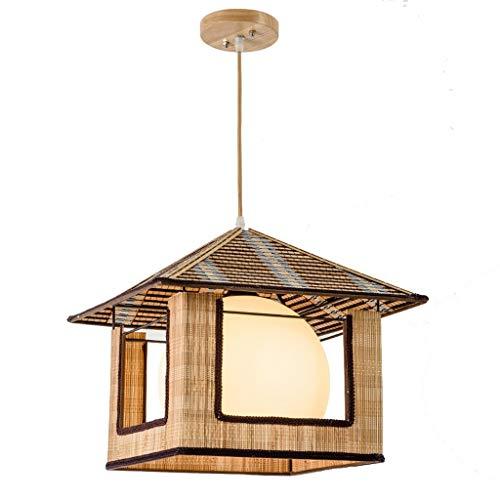 KAD Japanische Art Bambus Kronleuchter, Kreative Persönlichkeit Restaurant Cafe Balkon Aisle Korridor Wohnzimmer Schlafzimmer Kronleuchter, Glaswasc Kronleuchter Retro-Stil/A