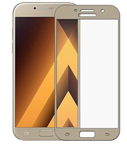 EUGO (2 Pack) Pellicola Protettiva Samsung Galaxy A5 2017-3D Full Coverage Vetro Temperato 9H Premio di Protezione Samsung Galaxy A5 2017 Pellicola Schermo - Oro