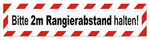 LOHOFOL Magnetschild Bitte 2m Rangierabstand halten | Schild magnetisch | lieferbar in DREI Größen (45 x 9 cm)