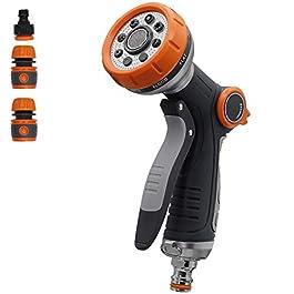 pistolet arrosage 10 modes d'arrosage, utilisé pour le lavage de voiture, l'arrosage du jardin, l'arrosage des plantes…