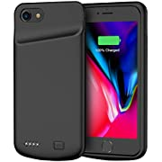 Battery Case for iPhone 7/8, 4500mAh Portable Rechargeable Protective Charging Case Compatible with iPhone 7/8 (4.7 inch) Extended Battery Pack Charger Case