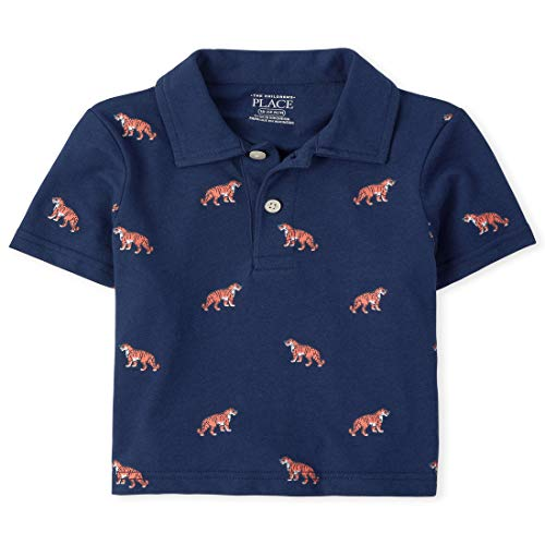 The Children's Place Baby Boys' Printed Polos, Milky Way, 6-9MONTHS