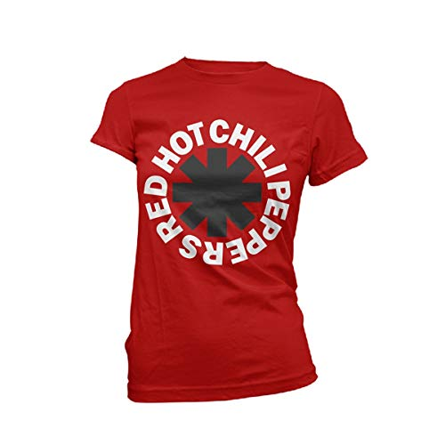 Red Hot Chili Peppers Classic Logo Frauen T-Shirt rot M 100% Baumwolle Band-Merch, Bands