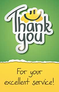 Thank You For Your Excellent Service! (Mini Gospel Tract Card, Packet of 100, NKJV)