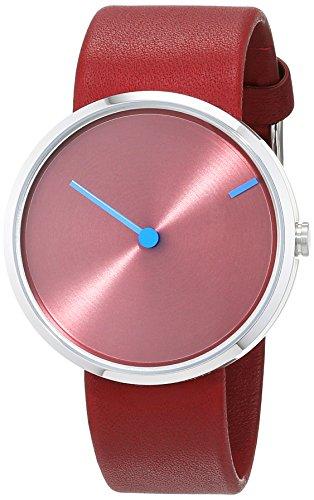 Jacob Jensen Unisex Analog Quarz Uhr mit Leder Armband 32255