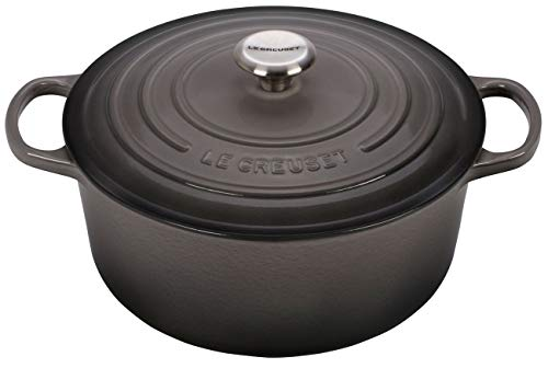 Le Creuset Enameled Cast Iron Signature Round Dutch Oven, 5.5 qt., Oyster