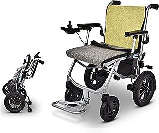 便携式轻便电动轮椅,智能轻便折叠轮椅,携带方便(仅 30 磅),经久耐用,续航里程可达 15 英里,可支撑 350 磅