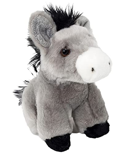 Edgewood Toys 6-inch Donkey Stuffed Animal – Ultra Soft Stuffed Donkey Plush – Mini Design for Little Hands to Carry – Cute & Soft - Great Gift for Any Barnyard Farm Animal Lover