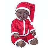 Bambole Reborn Biracial Da 19 Pollici, Bambola Reborn Afroamericana Carina, Toddler Reborn in Silicone per Tutto Il Corpo Dall