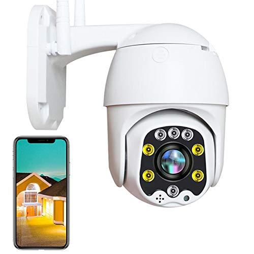 PTZ Cámara Exterior 3G/4G Sim Tarjeta 1080P HD IP Cámara de Vigilancia Exterior,Alerta Email,Impermeable IP66,Detección de Movimiento,Control App,HD Visión Nocturna en Color,ONVIF,P2P 【Cámara】