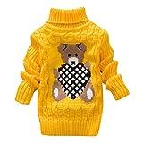 LEXUPE Baby Kleinkind Mädchen Winterjacke Kinderjacken Fell Warm Winter Coat Mantel Jacke Dicke warme Kleidung(0-24Monate)(Gelb,100)